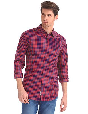 Modern Slim Fit Check Shirt