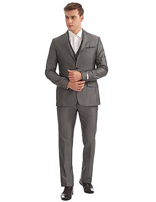 Patterned Three Piece Suit