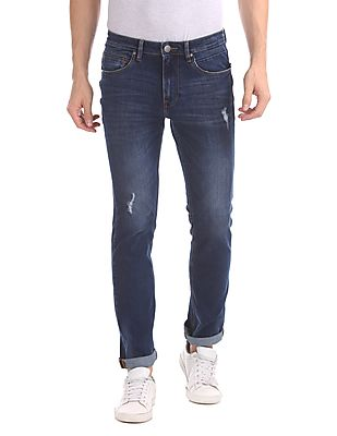 Skinny Fit Stone Wash Jeans