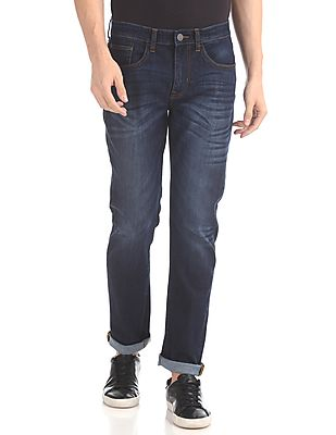 Slim Fit Dark Wash Jeans2