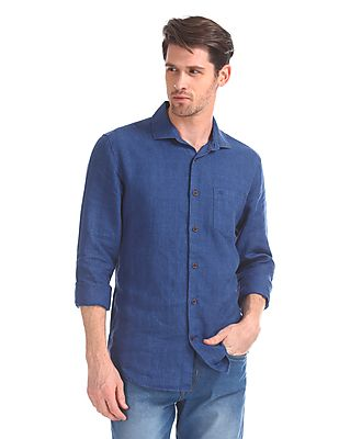 Slim Fit French Placket Shirt