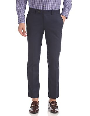 Tailored Regular Fit Solid Trousers
